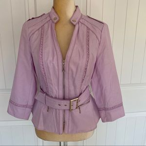 WHBM pastel purple belted jacket size 8